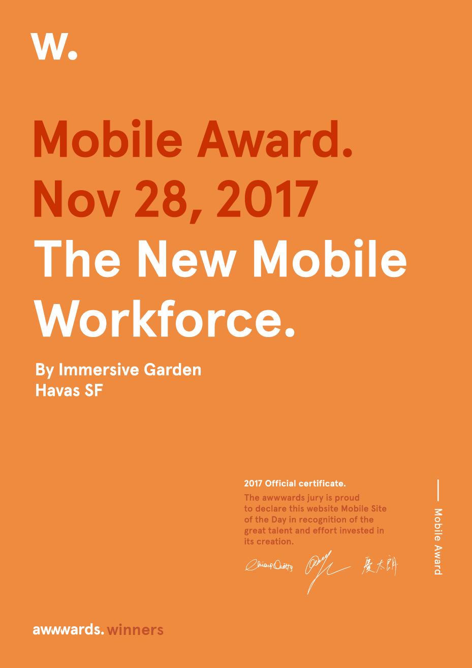 Certificate Mobile Award