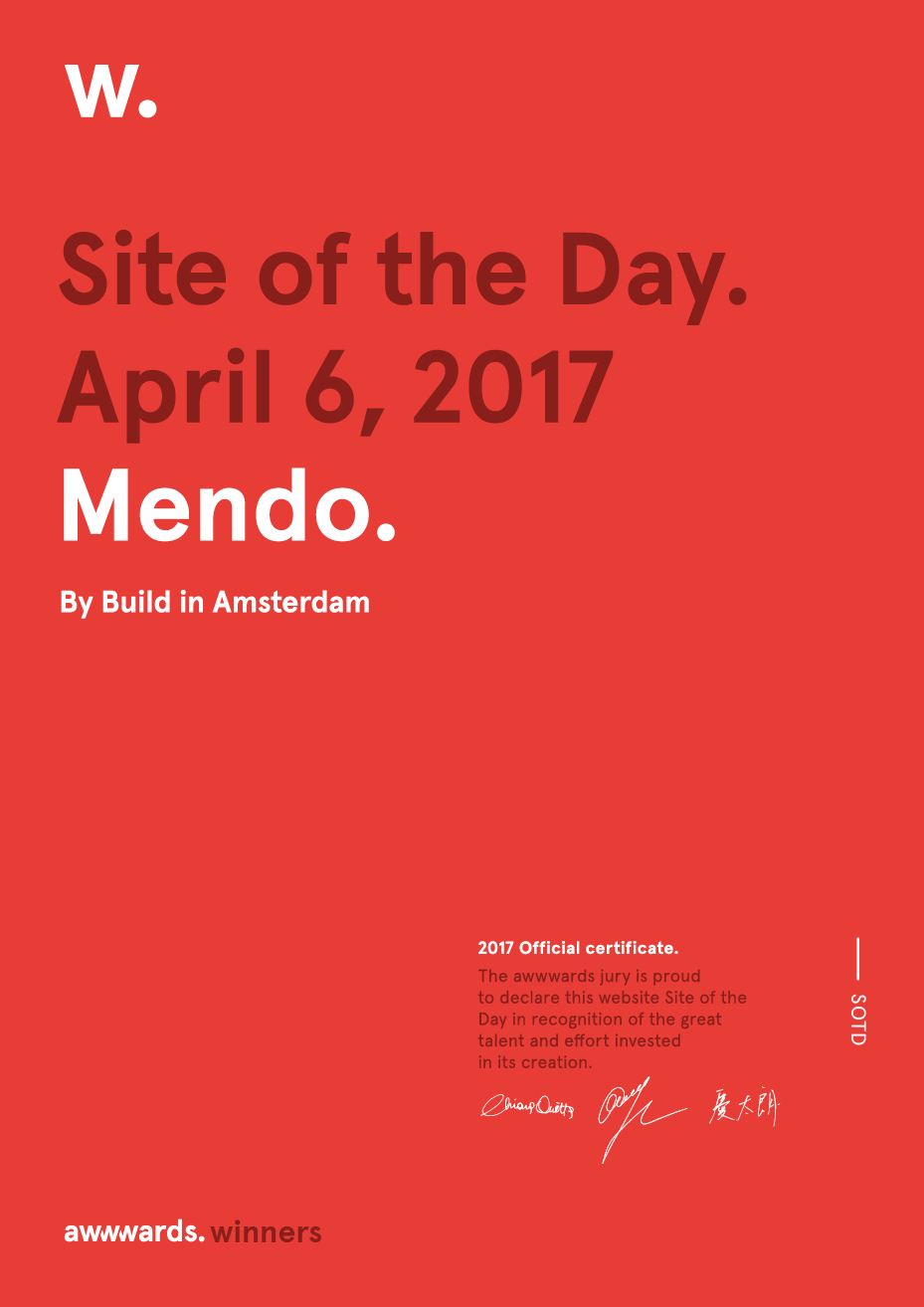 Certificate Site of the Day
