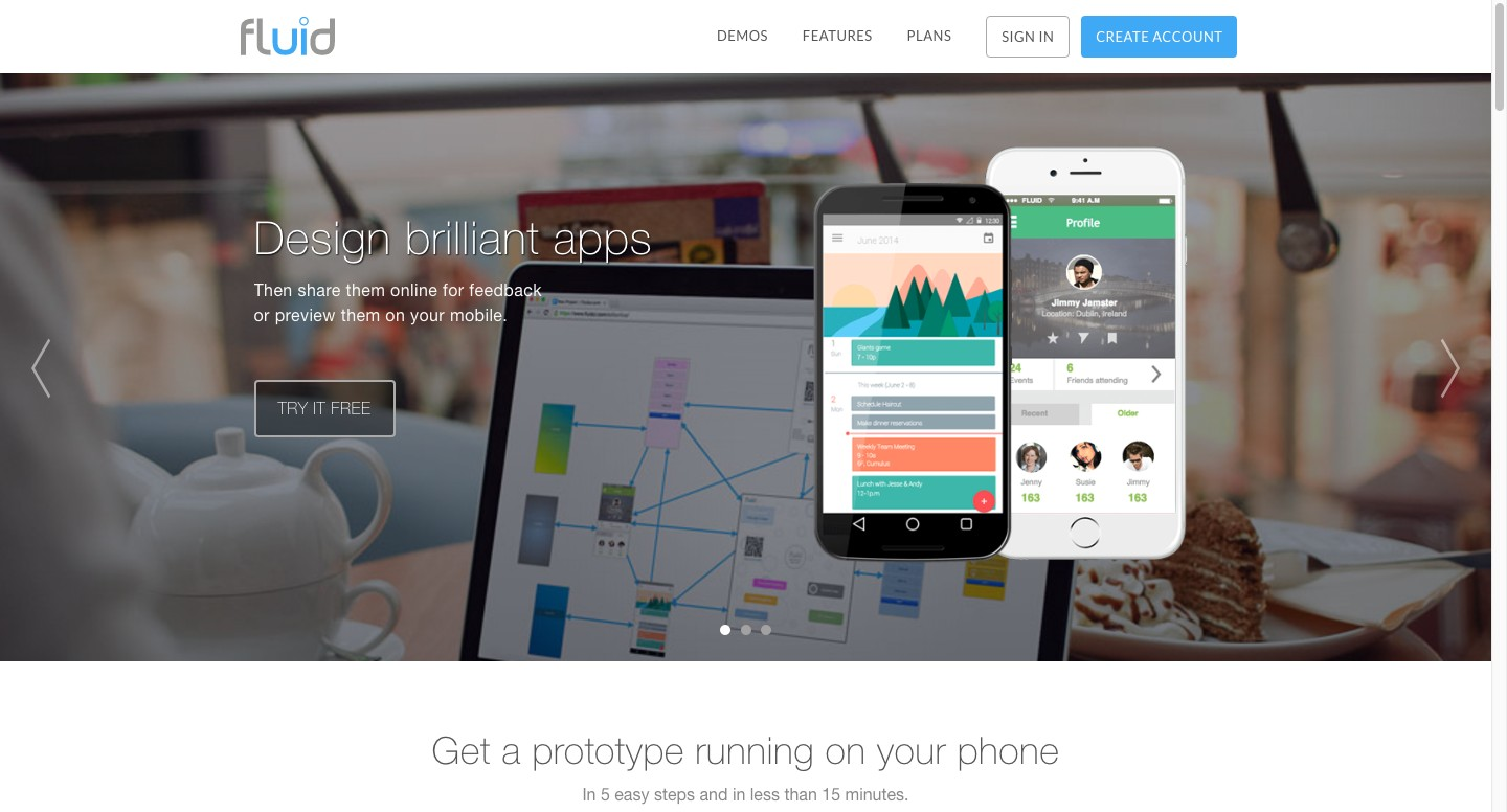 Free App Website fluid ui - free web and mobile app prototyping - wireframing
