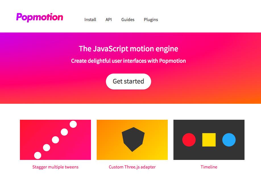 The JavaScript motion engine