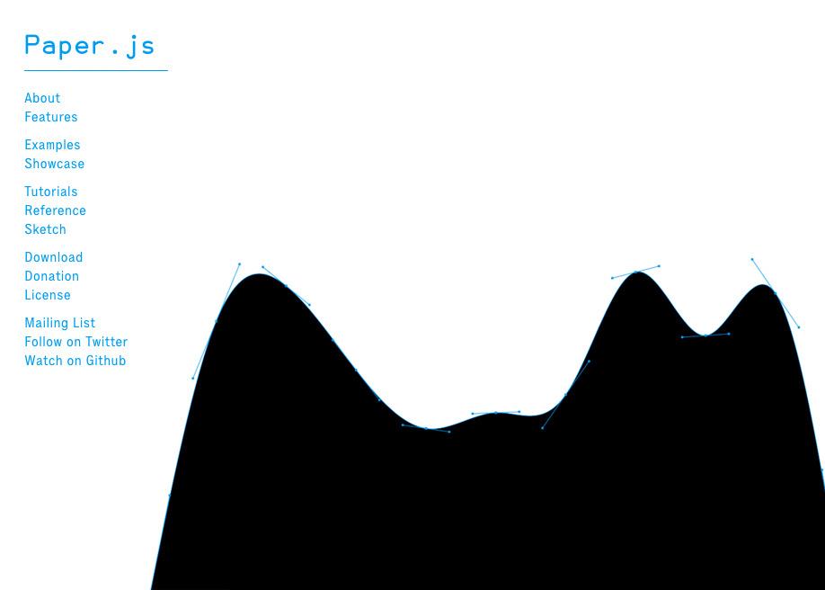 Paper.js: Vector Graphics Scripting