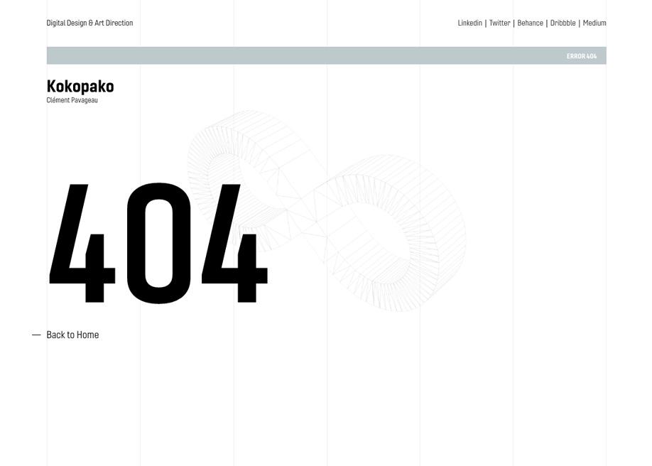 404 Error Page - Kokopako
