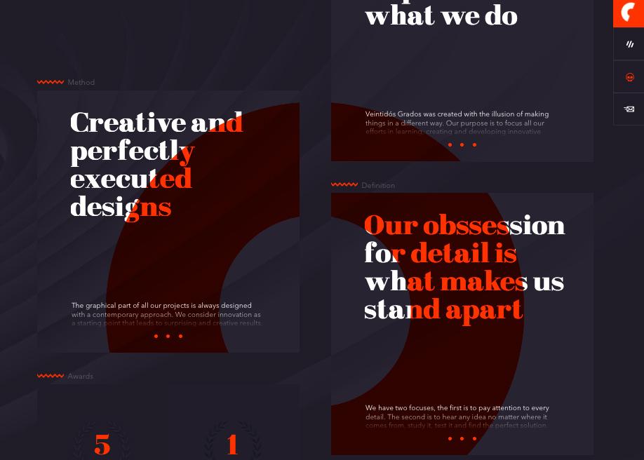 22 grados typography