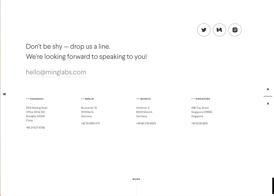 Clear and clean footer / MING labs