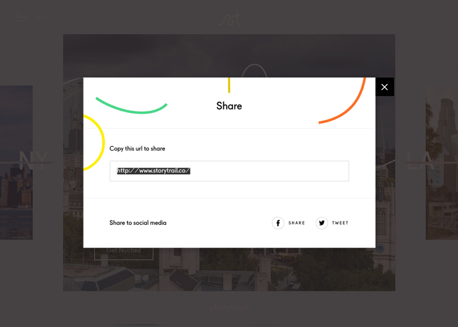 Social Share Storytrail