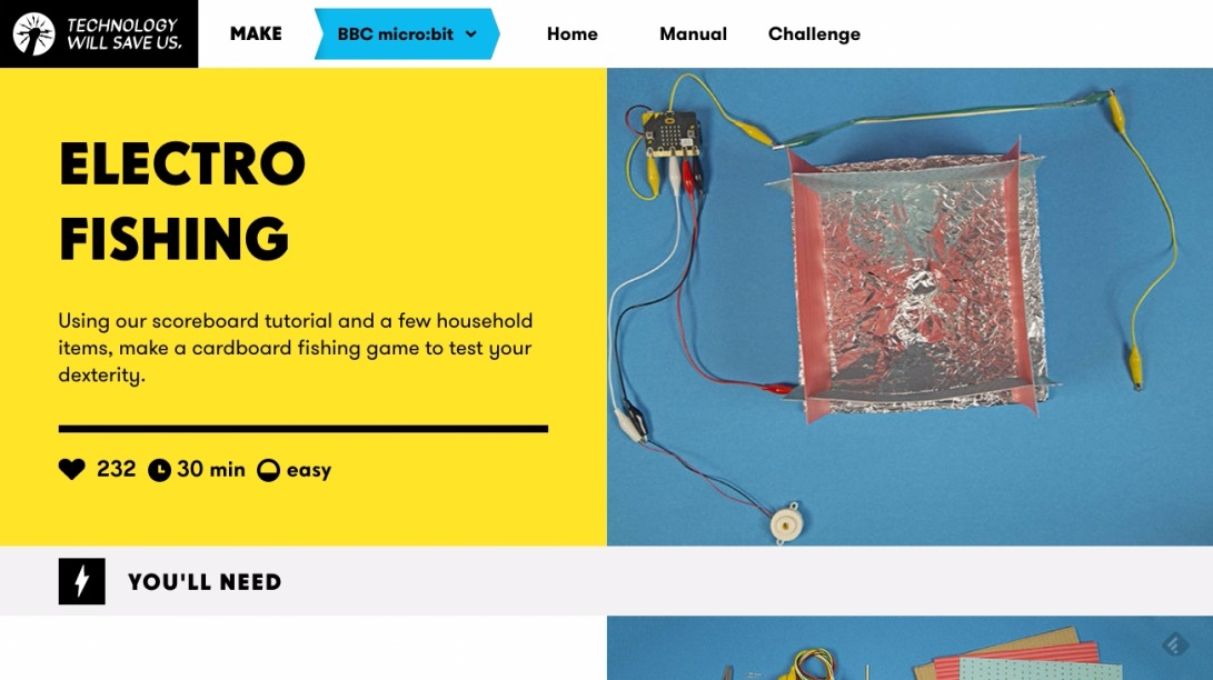 Electro Fishing | Make and code activities, projects and apps to learn about technology | Technology Will Save Us