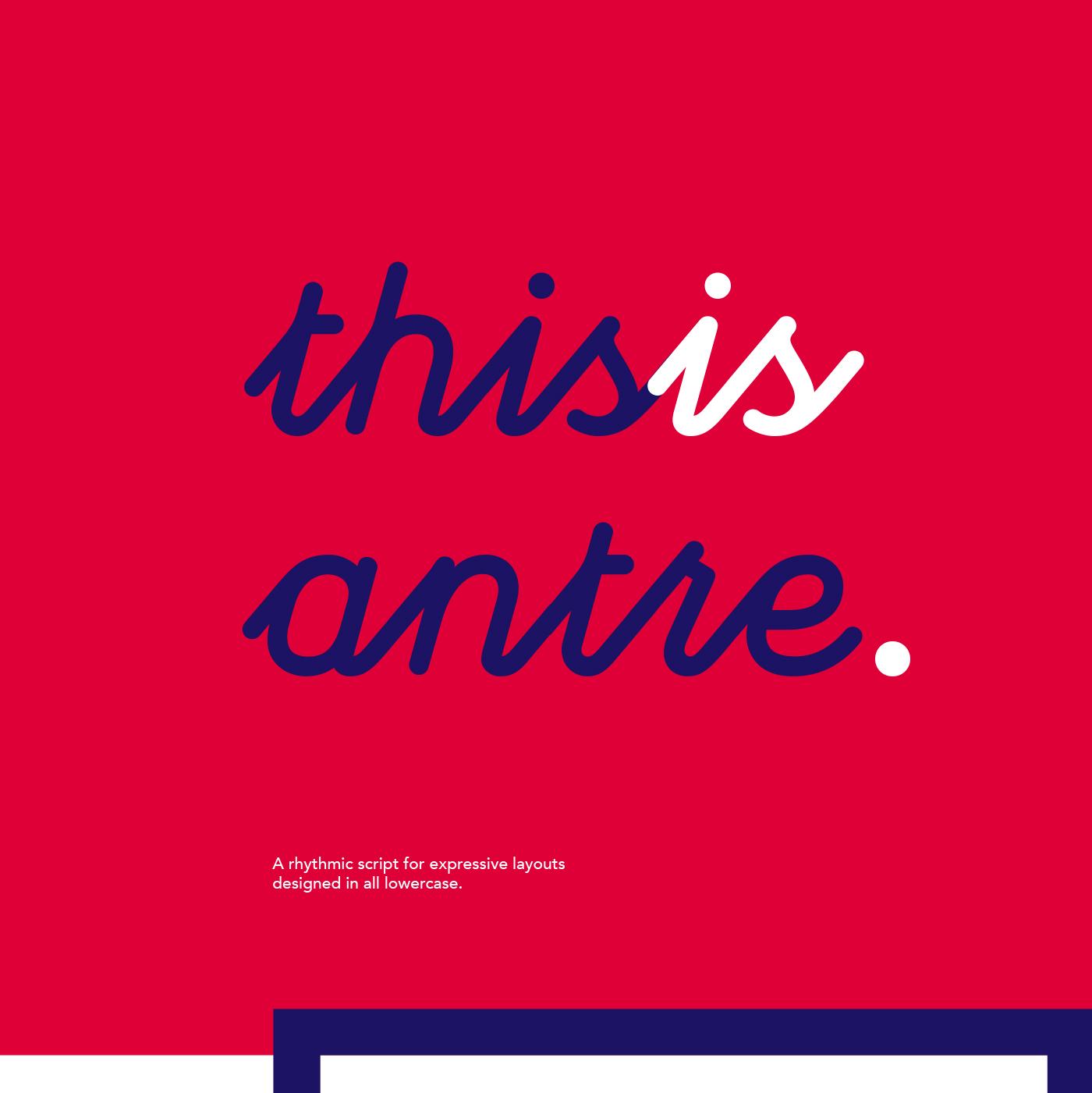 antre / free font on Behance
