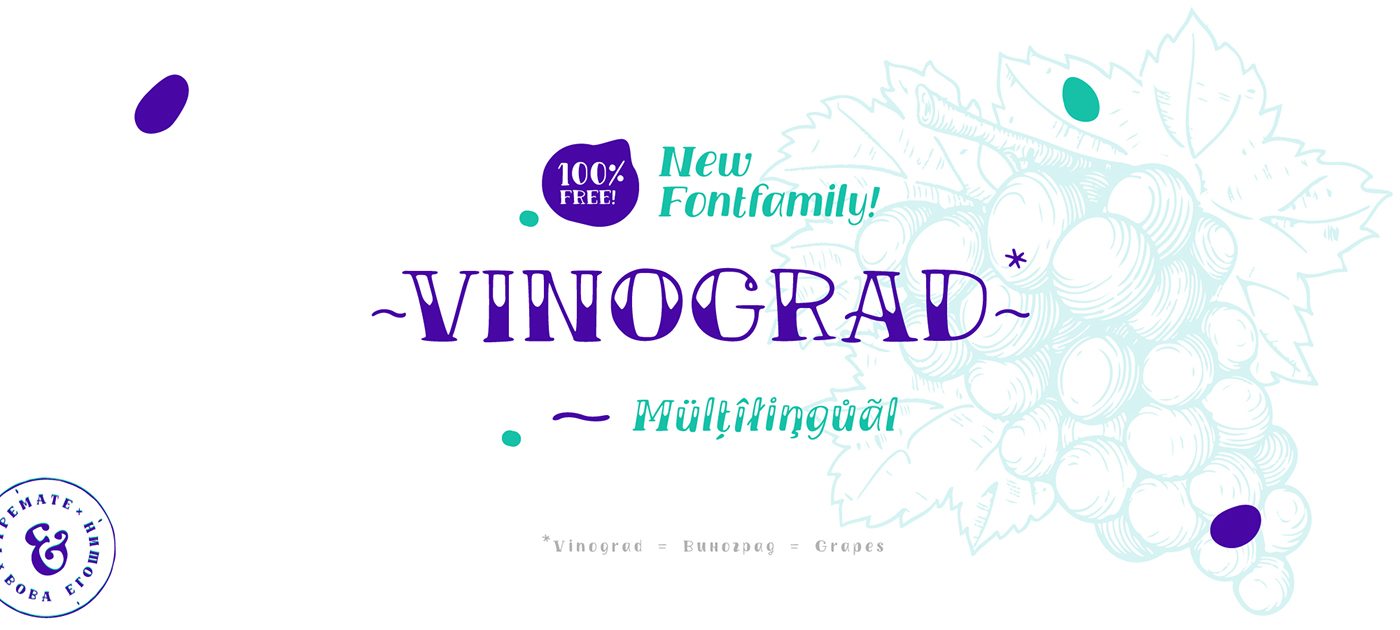 TM VINOGRAD - Free font on Behance