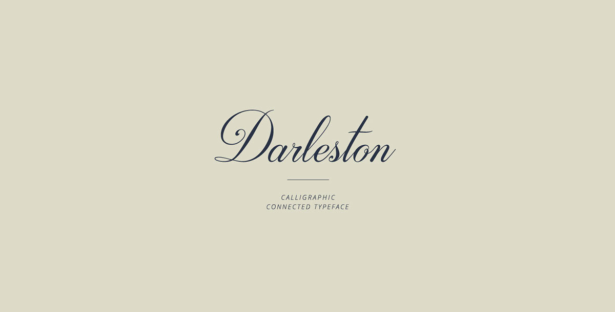 Darleston Typeface on Behance