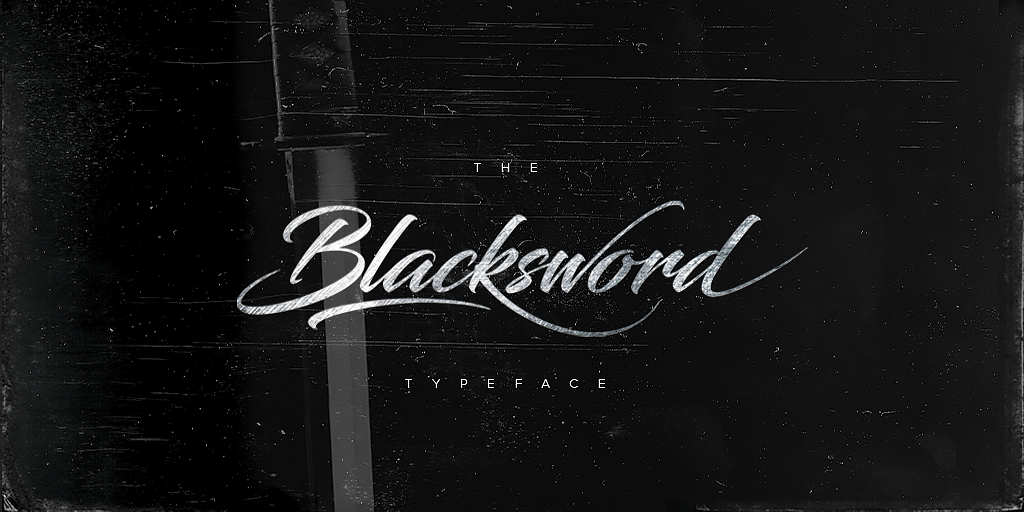 Blacksword Typeface on Behance