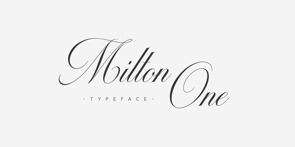 Milton 1 2 Typeface On Behance In Calligraphy Fonts