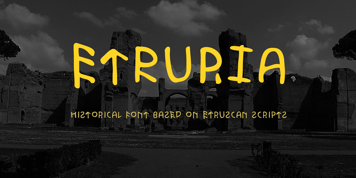 шрифт Этрурия | Etruria typeface on Behance