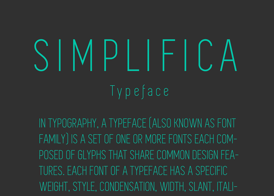 Simplifica - Free Font