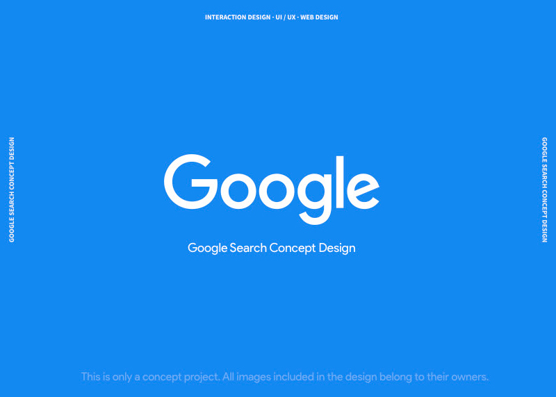 Google Search Design Concept