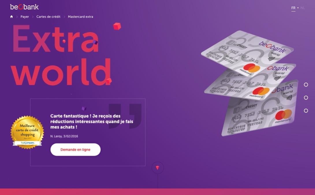 Mastercard World | Beobank