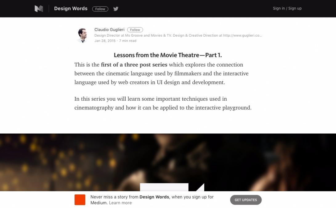 Cinematic Continuity on UI Design – Design Words – Medium