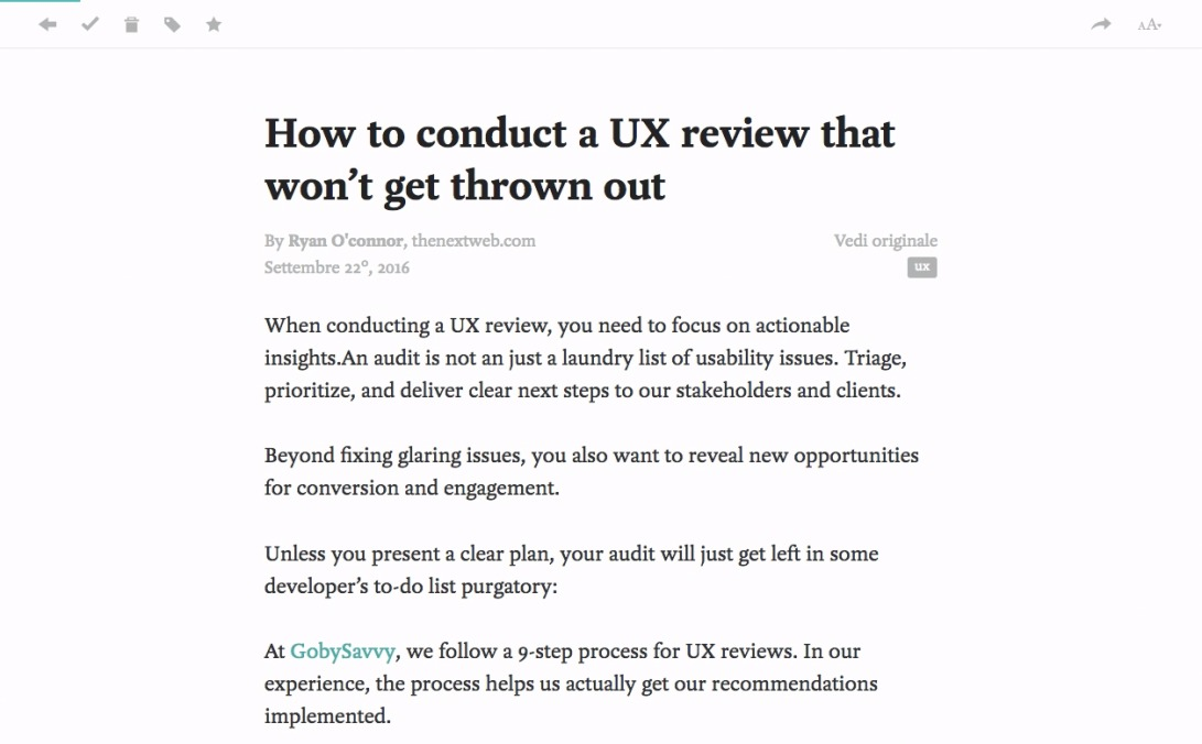 Pocket: How to conduct a UX review that won't get thrown out
