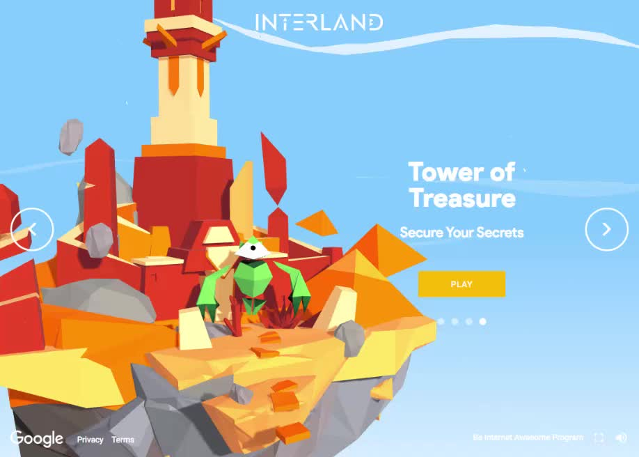 Interland Tower of Treasures Game