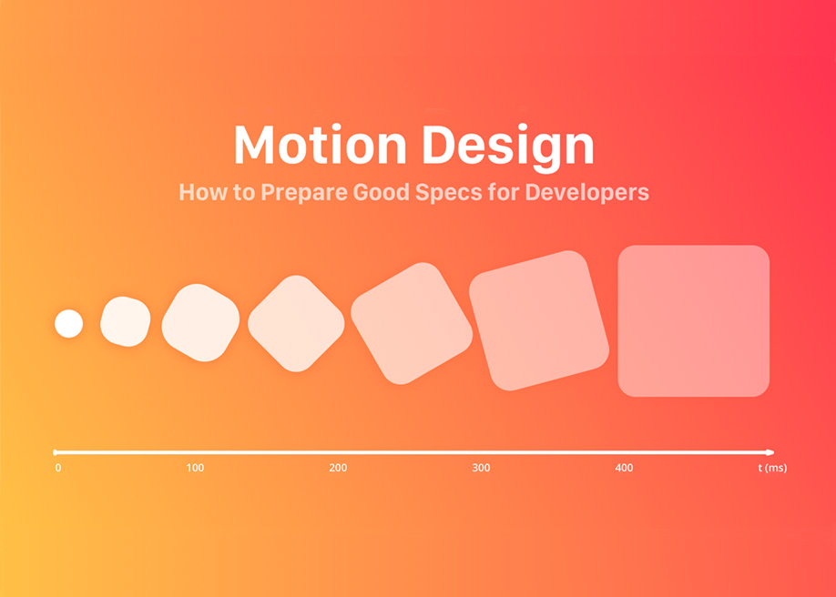 How to Present Animations and Interactions for Developers