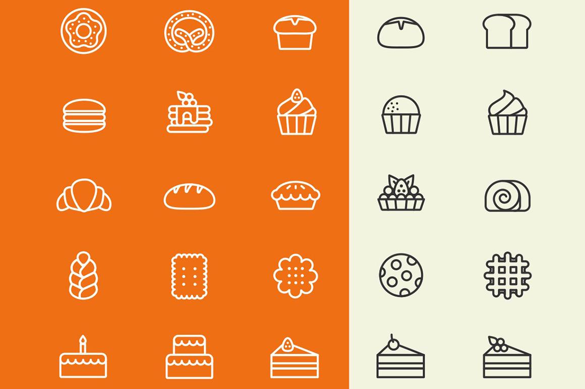 Bakery free icons set