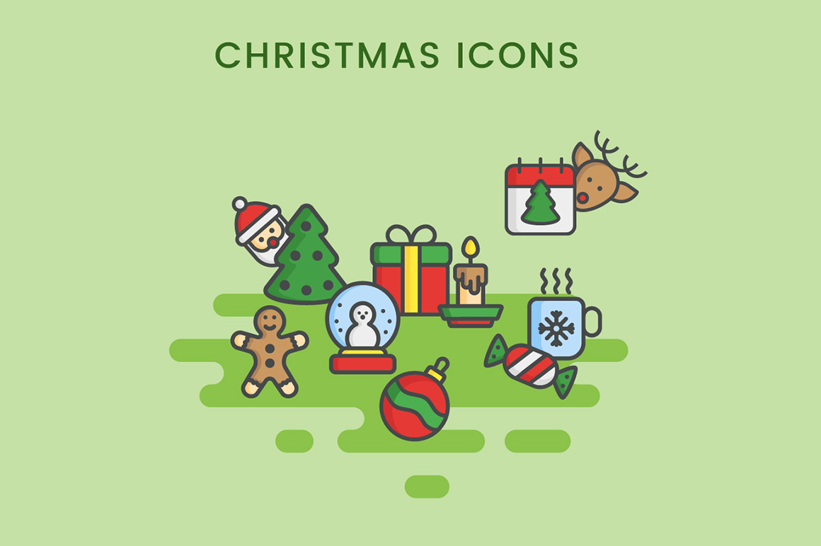 Christmas icons free set