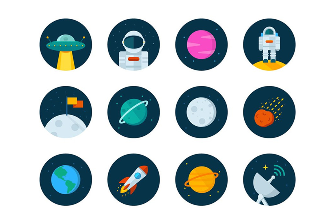 Space icons free set