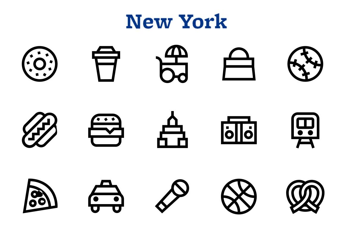 City free icons set