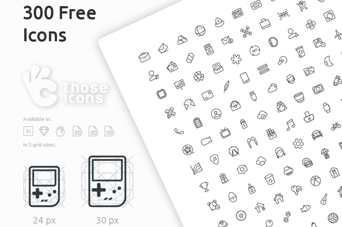300 free icons set