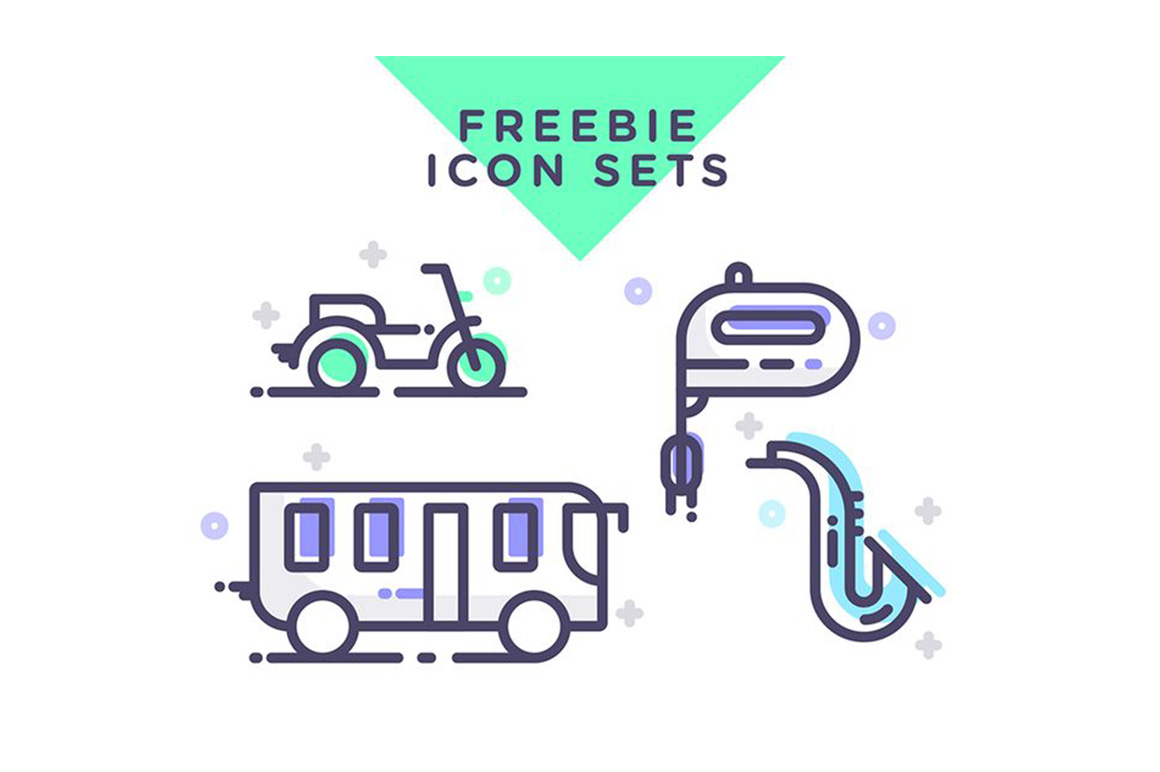 Transportation free icons set