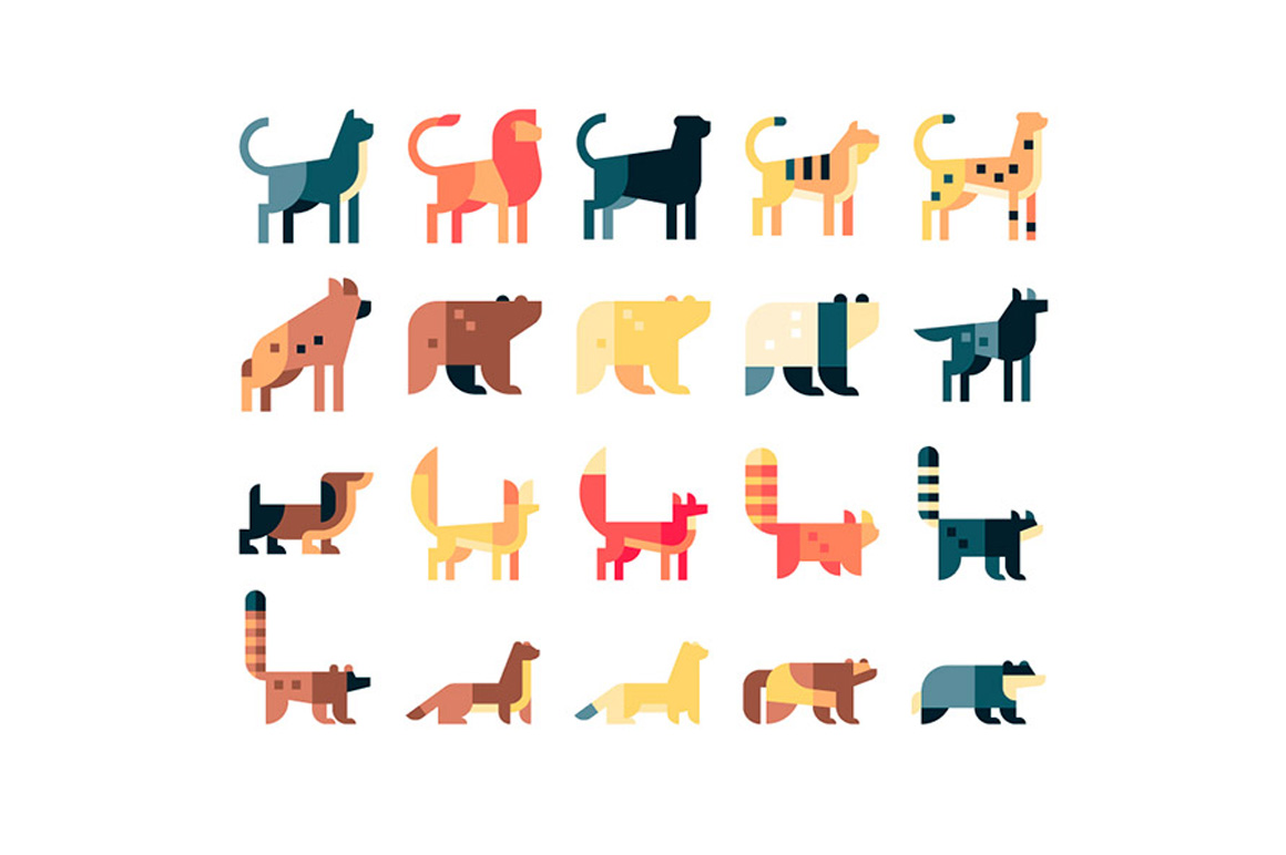 Wildlife free icons set