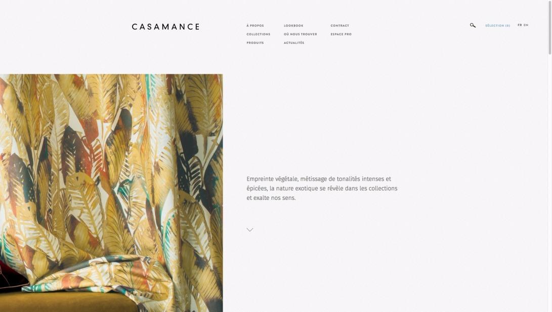 Casamance - Editeur de tissus, papier peint et revêtement mural contemporain
