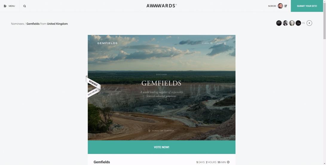 Gemfields - Awwwards Nominee