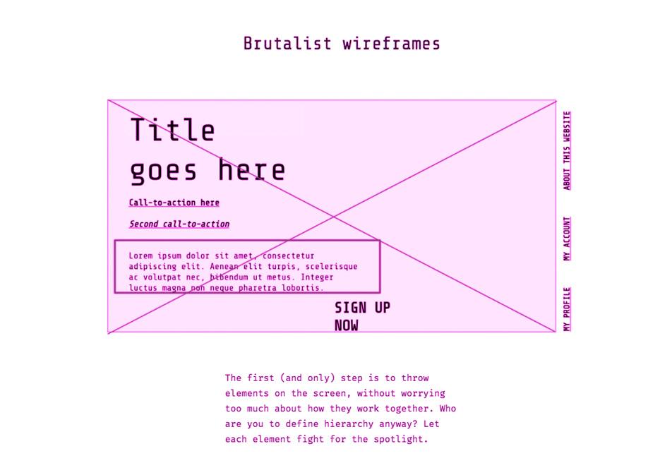 UX Brutalism - A Brutalist Framework