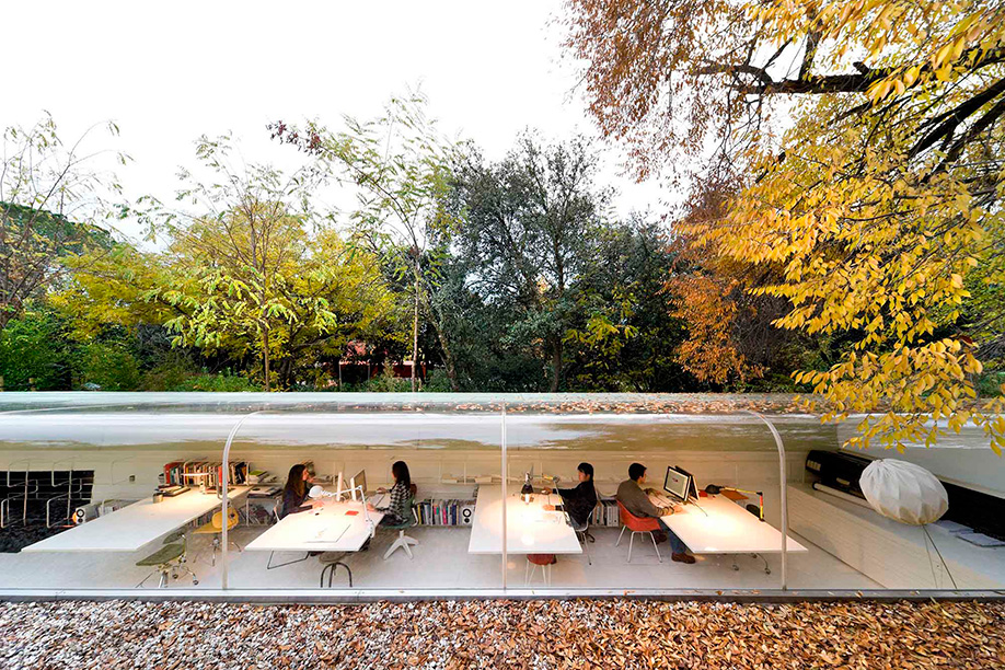 SelgasCano's office in the woods near Madrid