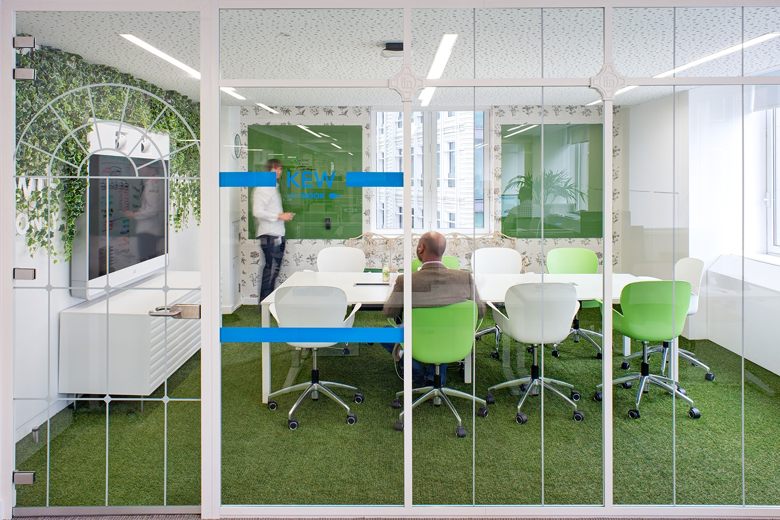Meeting room at Linkedin's office in London