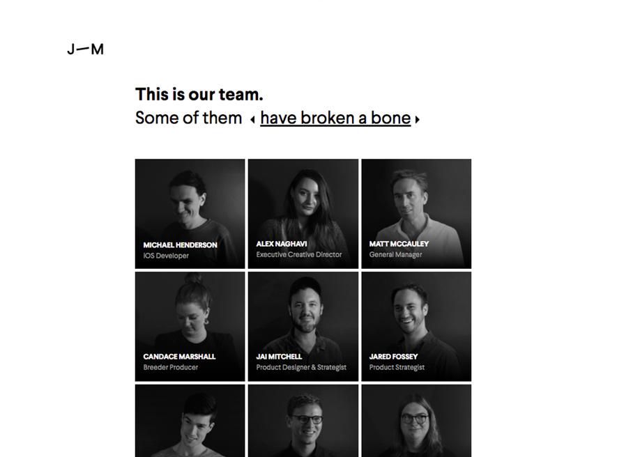 Josephmark team page