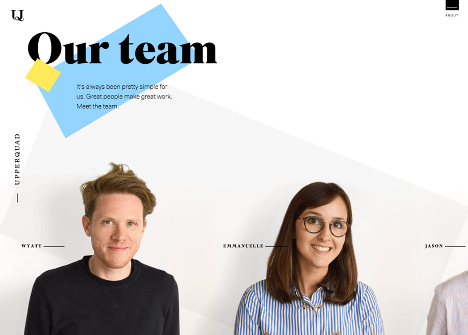 Upperquad agency team page