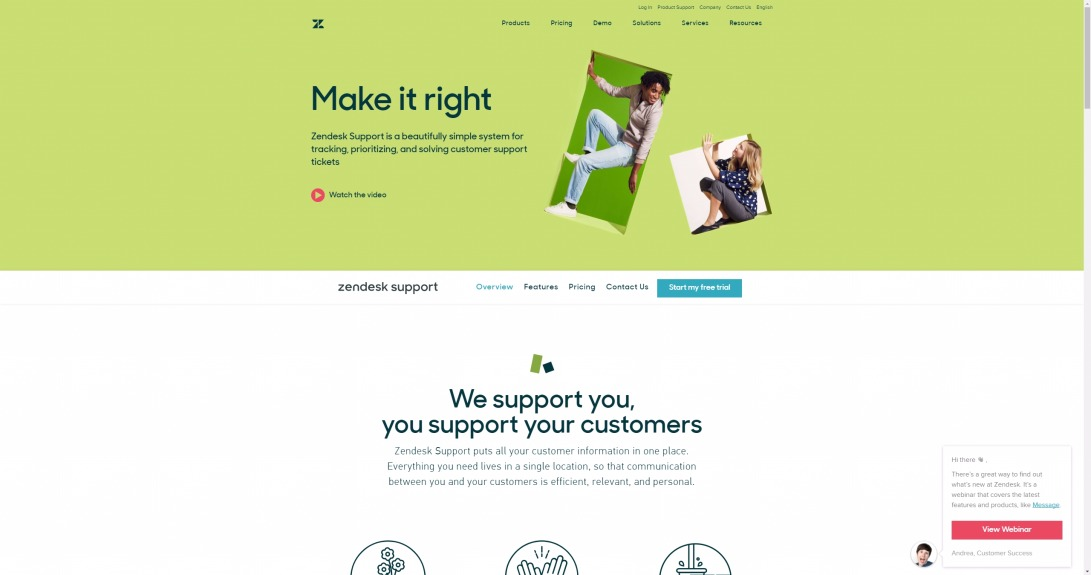 Customer Service & Ticket Software with Zendesk Support