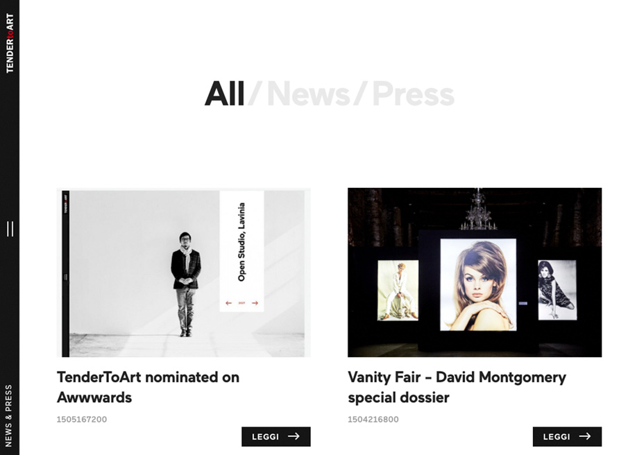 News & Press - Tender to art