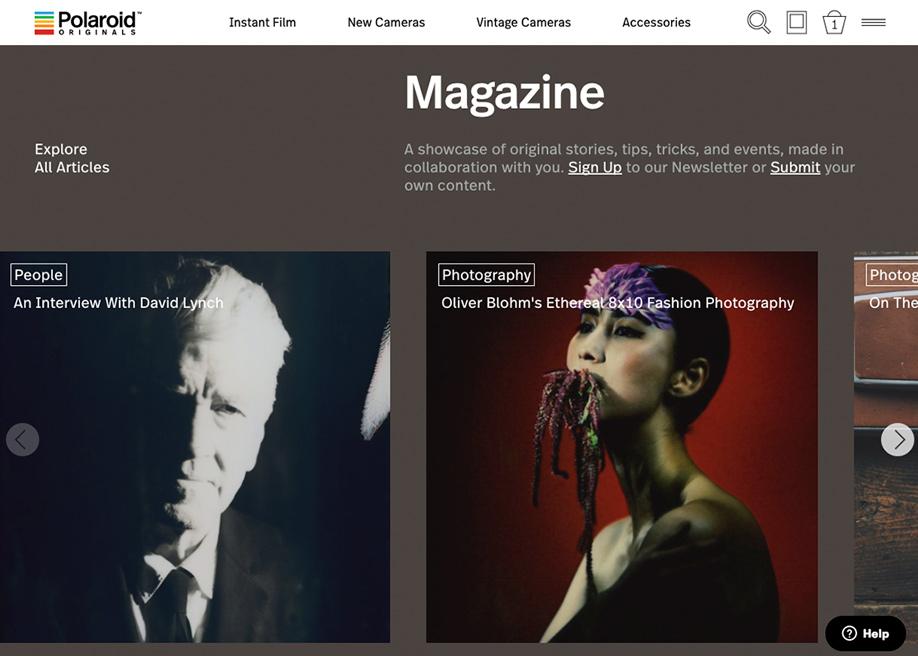Polaroid Originals Magazine