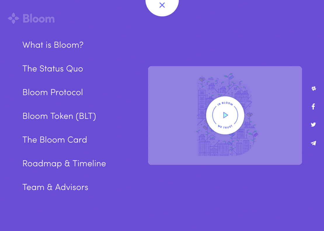 Bloom - menu