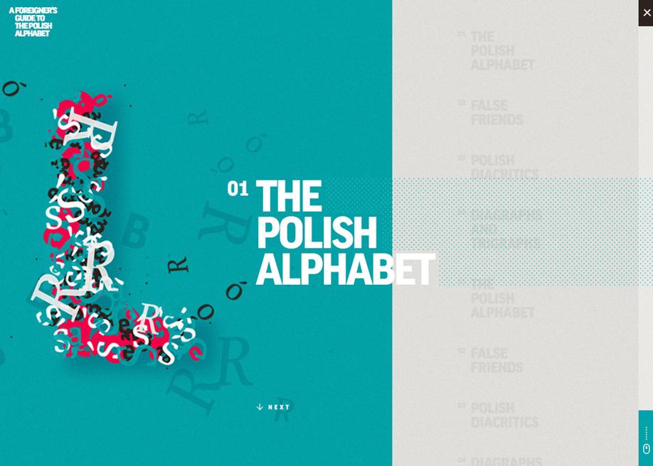 Polish language learners menu