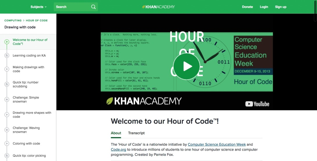Welcome to our Hour of Code™! (video) | Khan Academy
