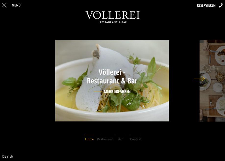 Voellerei - menu