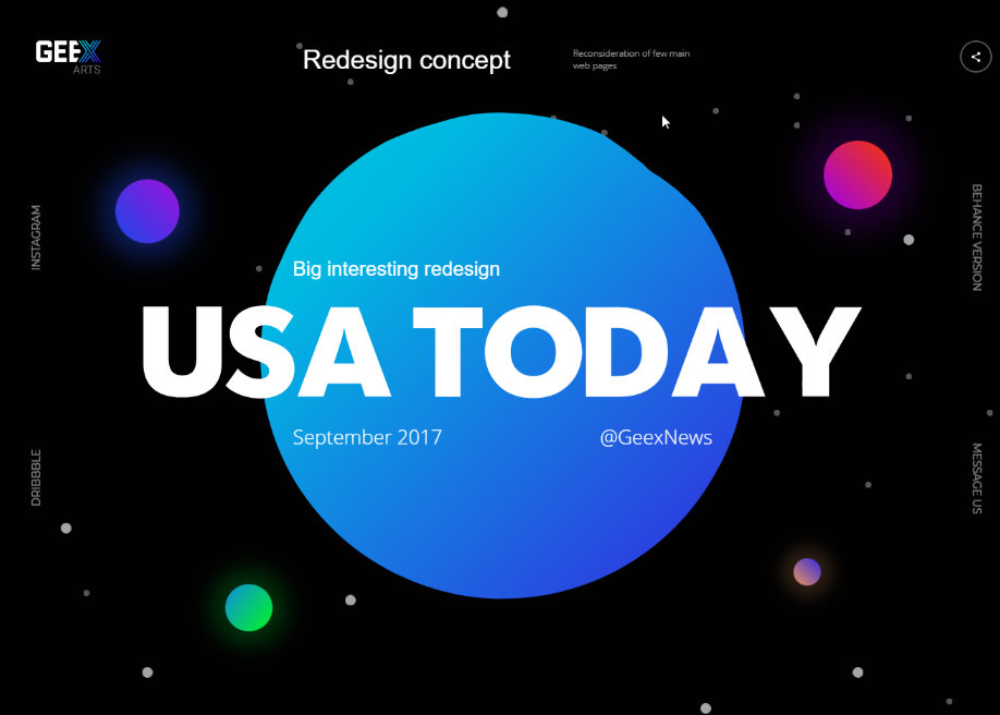 Usa Today Redesign Gradients
