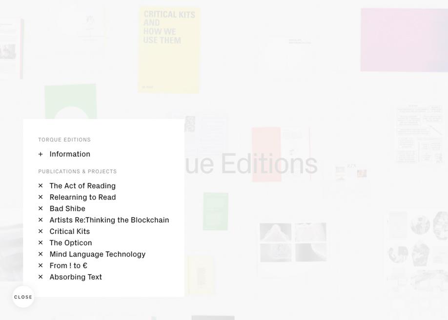 Torque Editions menu