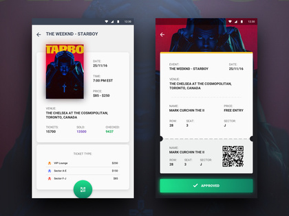 event app – Search – Savee