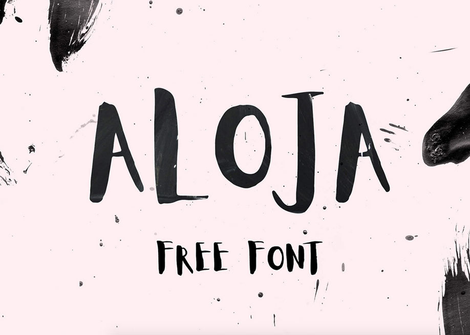 Aloja handwriting font