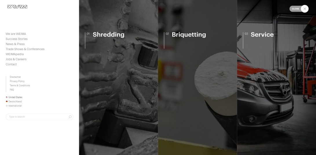 Briquetting presses & industrial shredders made by WEIMA