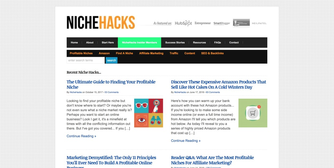 "NicheHacks - ""The Wikipedia of Online Marketing..."""